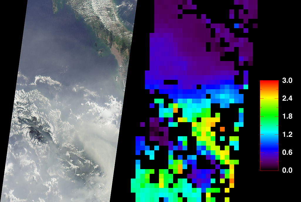 Smoke over Sumatra, Indonesia - related image preview