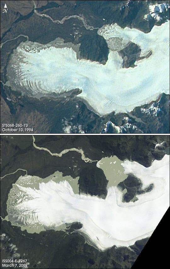 Glacial Retreat in Chilean Patagonia