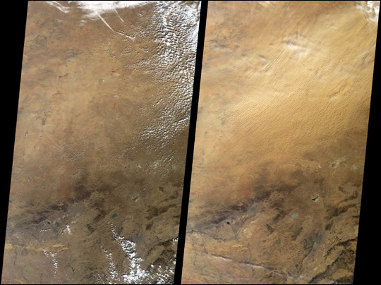 Airborne Sea of Dust over China