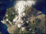 Ash and Steam, Soufriere Hills Volcano, Monserrat