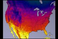 Terra Data Confirm Warm, Dry U.S. Winter