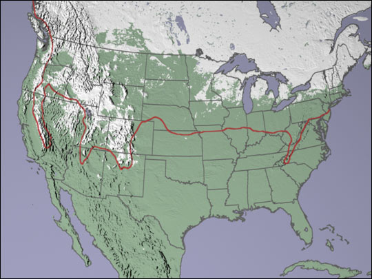 Unusually Low Snow Cover In The Us Image Of Day: Map Of Snow Cover In North America At Usa Maps