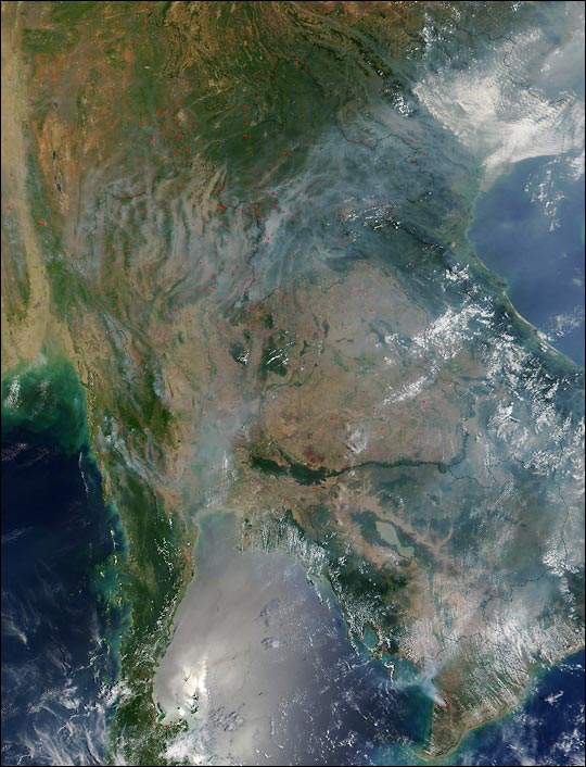 Fires Throughout Thailand, Myanmar, and Laos