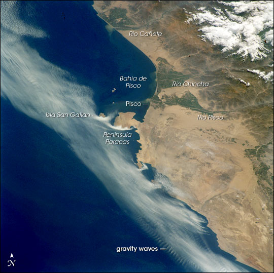 Coastal Fog, South Peruvian Coast at Pisco