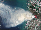 Large Wildfire in Southern Vietnam