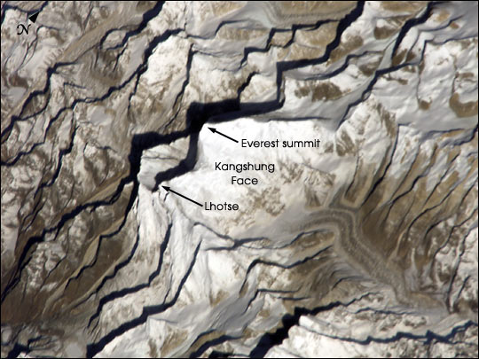 nasa visible earth  mount everest from the international