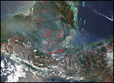 Smoke from Fires in Central America Drifts over Texas