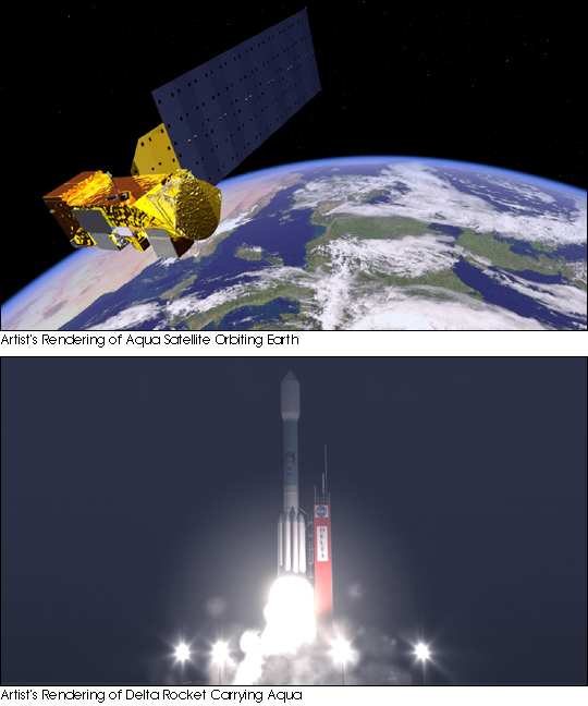 NASA Launches Aqua Satellite