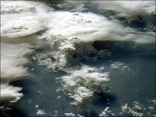 Thunderstorms over Brazil