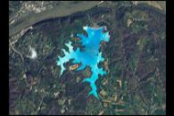 An Astronaut's View of Jewel-toned Lakes