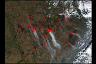 Extensive Burn Scars in Russia's Amur Region
