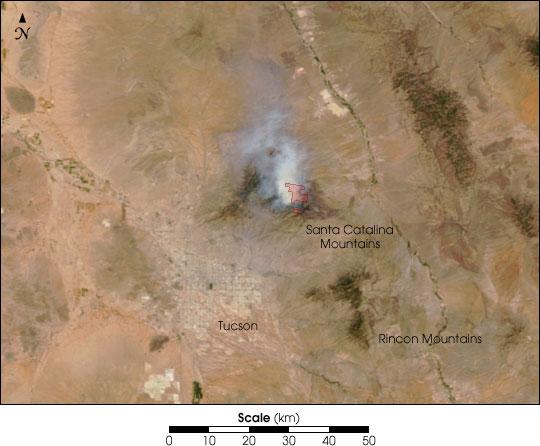Bullock Fire, near Tucson, AZ