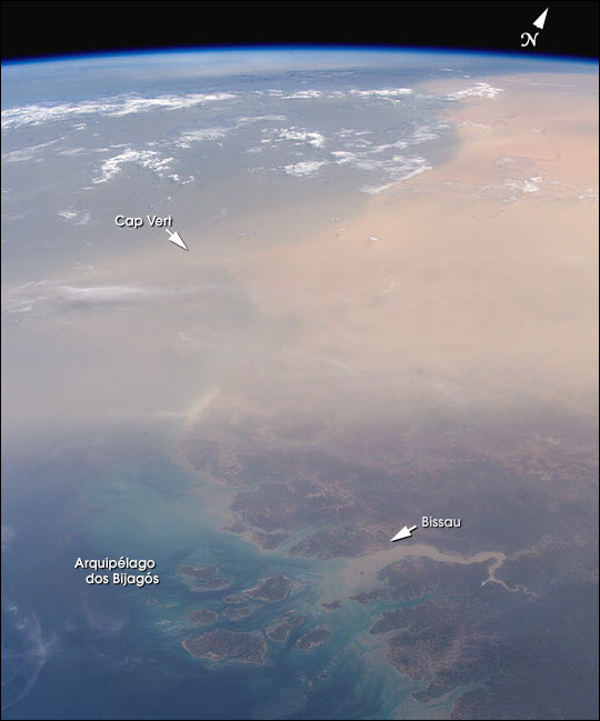 Saharan Dust over Senegal