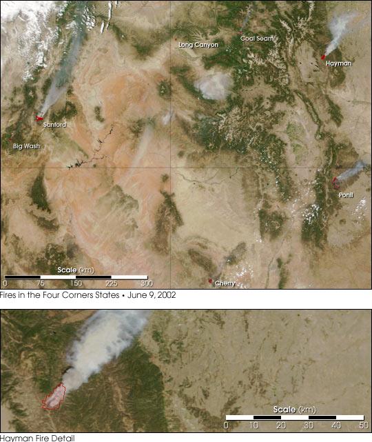 Wildfires Rage in Southwestern U.S.