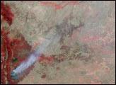 Smoke from Colorado Wildfires