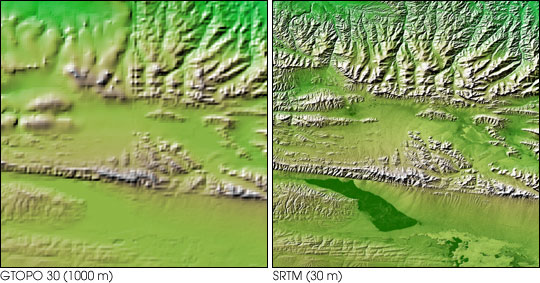 Topography of the Kunlun Fault