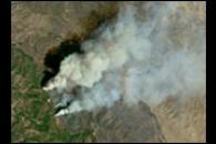 Fire in Anza Borrego State Park, California