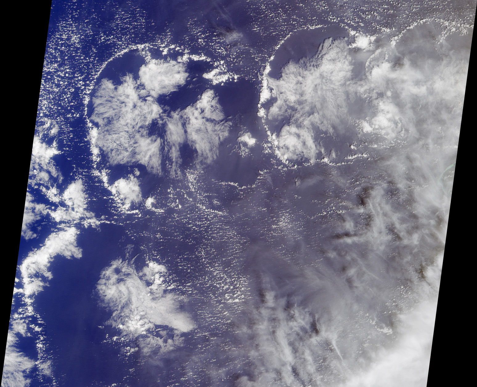 Cloud self-organization over the Western Pacific (NASA)