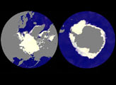 AMSR-E measures sea ice extents