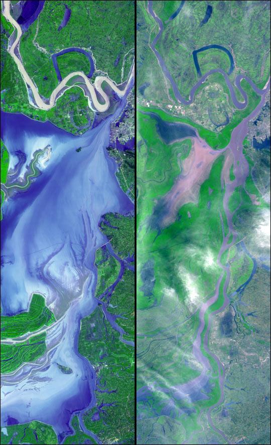 Dongting Lake Flooding in China