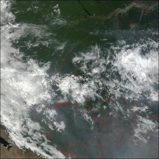 Slash and Burn Agriculture in Brazil
