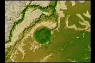 Topographic Map of the Iturralde Structure, Bolivia