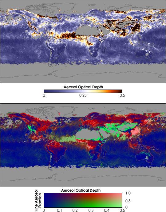 Distinguishing Natural Aerosols from Human Pollution