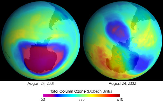 The Antarctic Ozone Hole in 2002