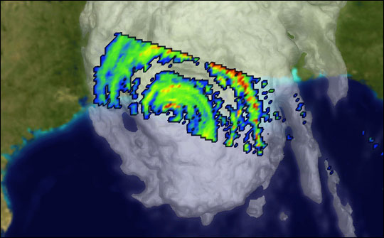 Rain Rates Inside Hurricane Lili - related image preview