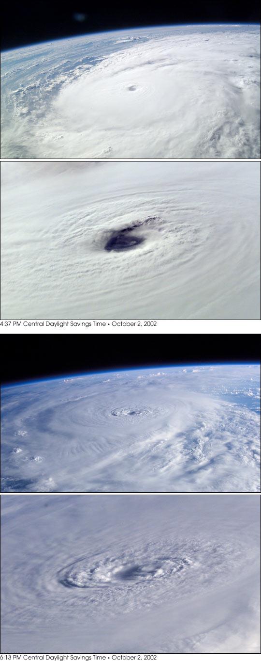 Astronaut Photos of Hurricane Lili