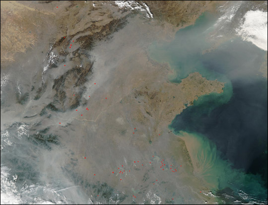 Pollution over East China