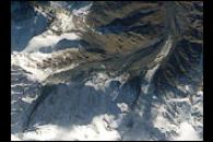 Space Shuttle view after Kolka Glacier Collapse