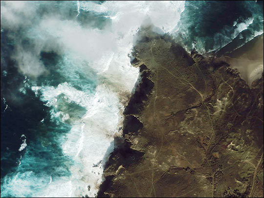 Oil Slick Along the Spanish Coast