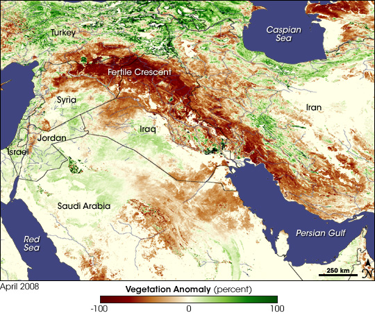 Drought in the Fertile Crescent