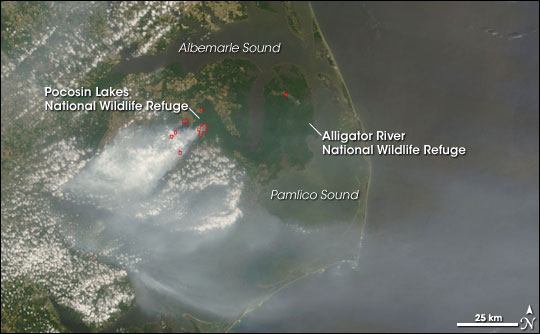 Fires in North Carolina and Virginia