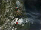 Fires in North Carolina and Virginia