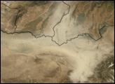 Dust Storm in Northeastern Afghanistan