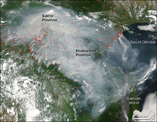 Fires in Southeastern Russia