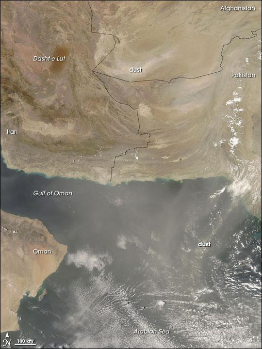 Dust Storm over Southwestern Afghanistan