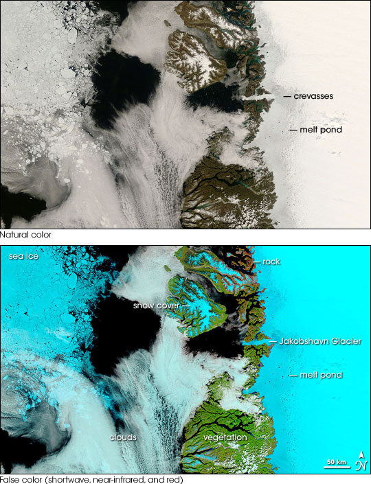Melt Season along the Greenland West Coast