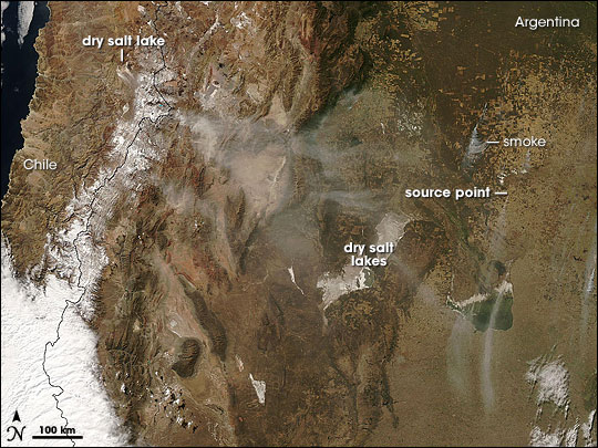 Dust Storm Over Chile and Argentina