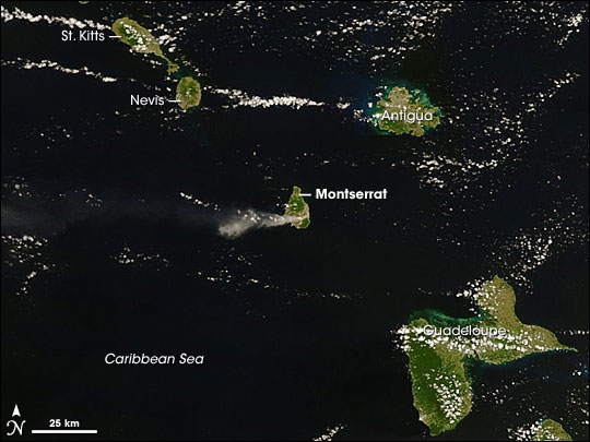 Activity on Soufriere Hills Volcano