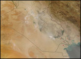Dust over Iraq and Saudi Arabia