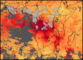 Carbon Monoxide over Africa - selected image