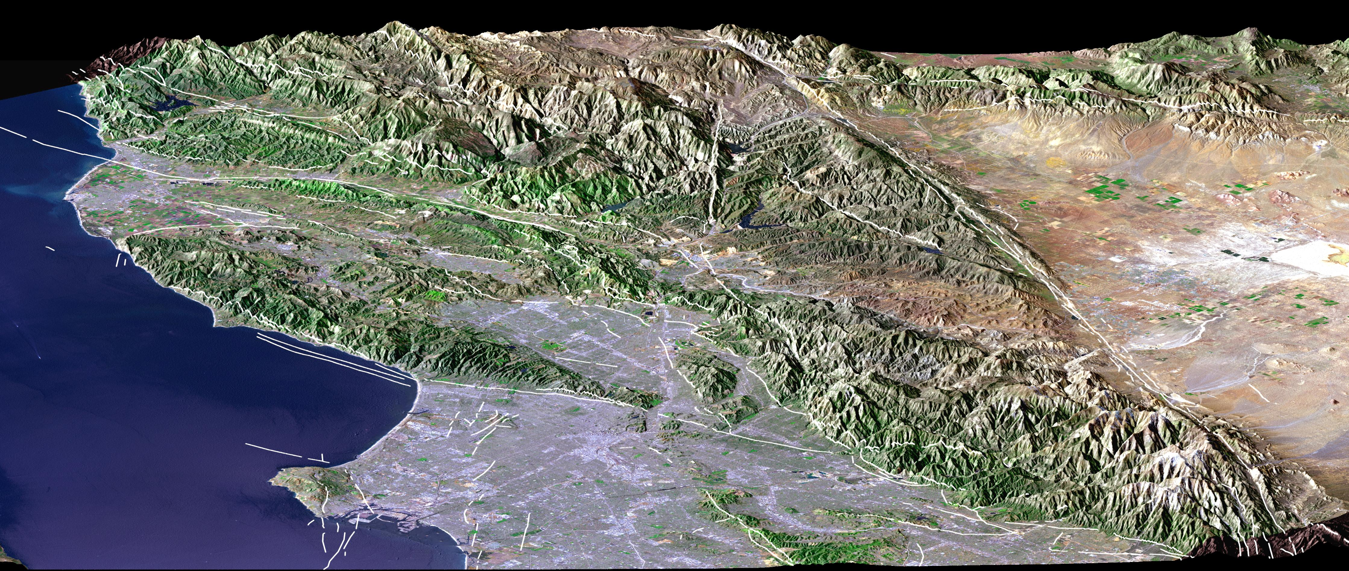 Los Angeles Faults Image of the