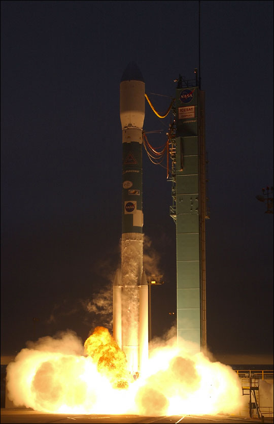 ICESat Launches from Vandenberg Air Force Base