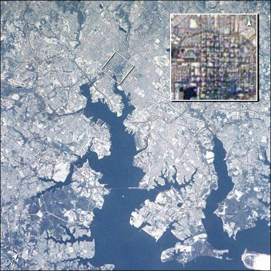 Baltimore with a Dusting of Snow - related image preview