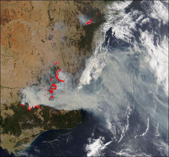Severe Bushfires in Southeast Australia