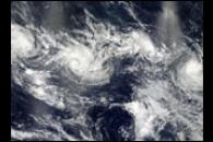 Four Cyclones in the Indian Ocean