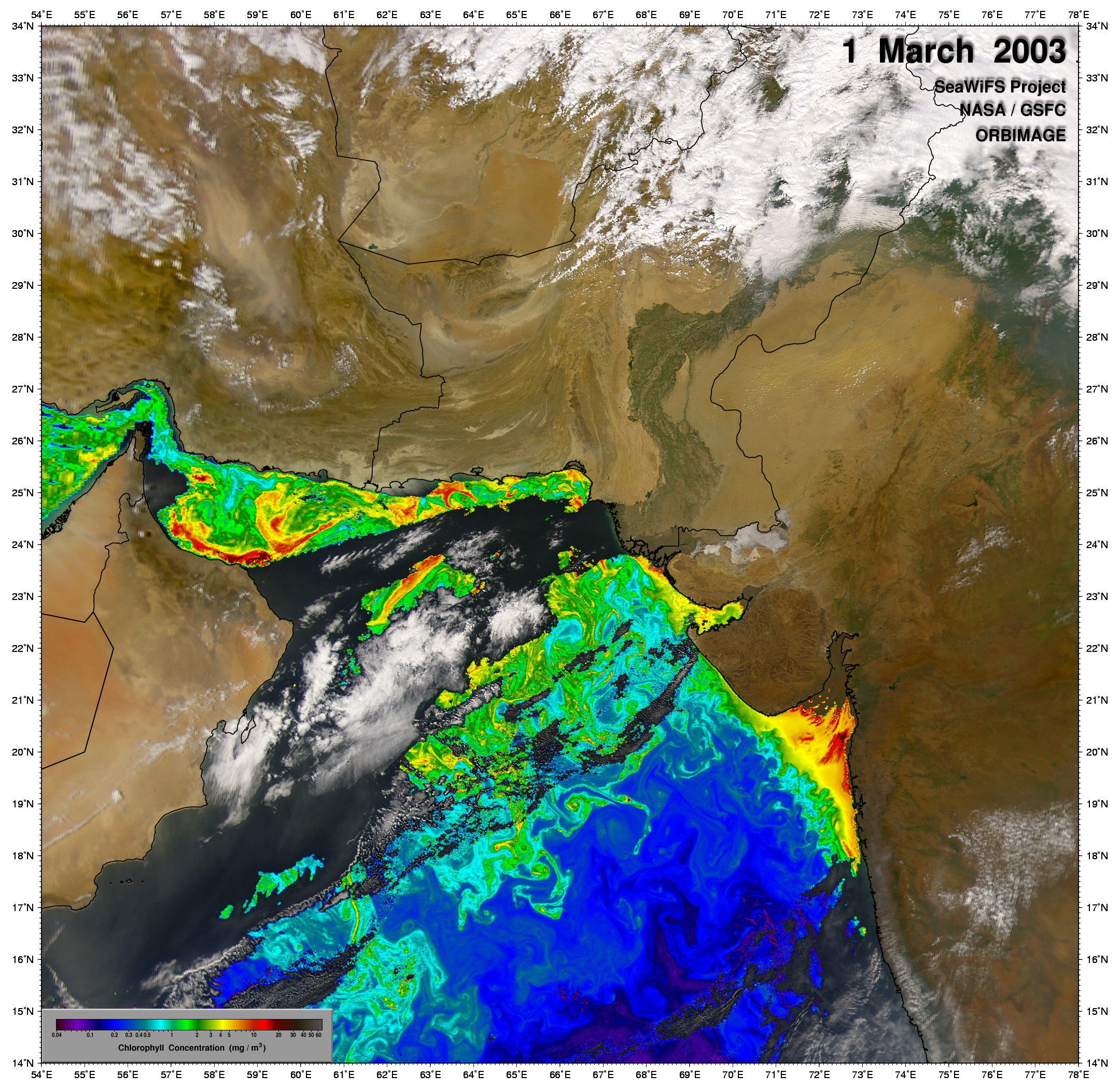 Spring bloom in the Arabian Sea - related image preview